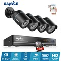 SANNCE 8CH 1080P HDMI CCTV System DVR Kit HD 4pcs 720P CCTV security camera IR outdoor survelliance video camera kit 1TB HDD