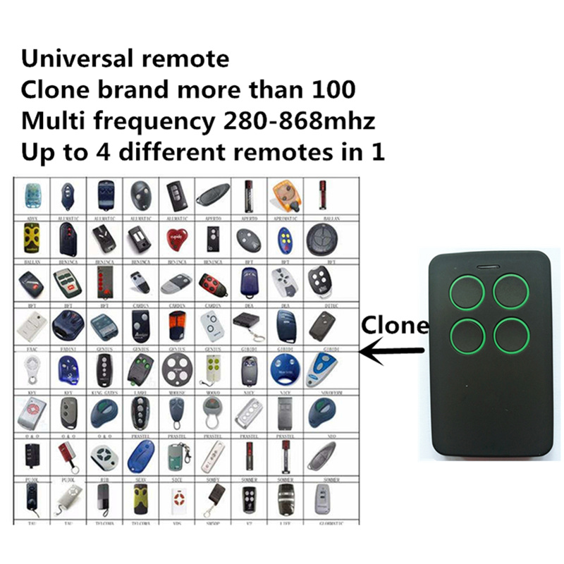 Free Shipping universal Multi frequency 280-868mhz rolling code fixed code remote control duplicator keyfob Clone controller compatible adyx rolling code 433mhz remote control duplicator multi frequency universal