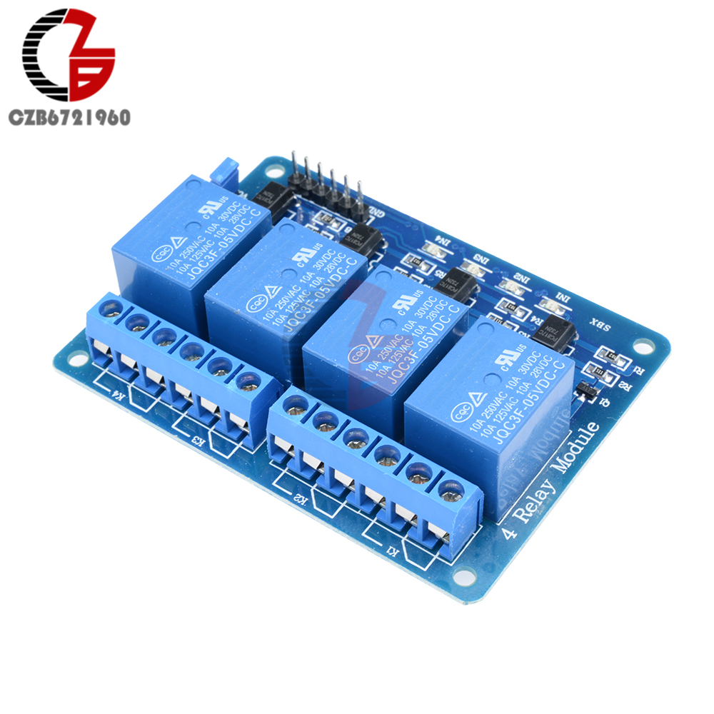 5V 4 Channel Relay Module 4-channel Relay Control Board With Optocoupler Relay Output 4 Way Relay Module for Arduino 5v 2 channel ir relay shield expansion board module for arduino with infrared remote controller