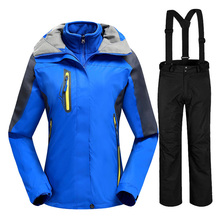 Winter Women's Ski Suit High-quality Windproof Waterproof Breathable Thermal Snowboard Jackets Mountain Skiing Suit for Women 2017 new high quality women skiing jackets and pants snowboard sets thick warm waterproof windproof winter female ski suit