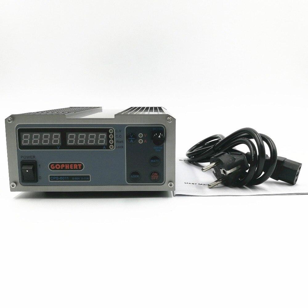 CPS-6011 PFC 60 V 11A Precisão Compact Digital Ajustável DC Power Supply fonte De Alimentação de Laboratório