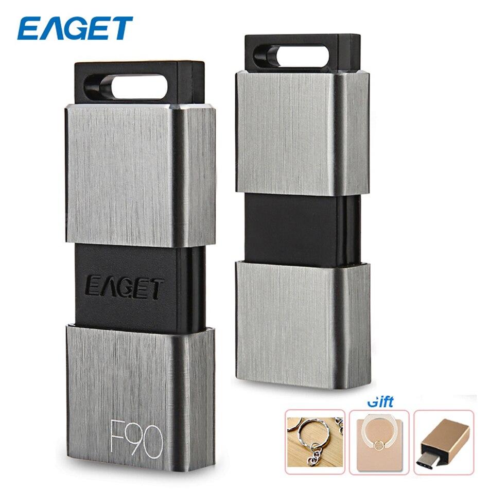 Eaget F90 Hohe Geschwindigkeit USB 3.0 Metall-Stick 16GB 32GB 64GB 128GB 256GB Stick usb -stick Staubdicht Stoßfest für PC