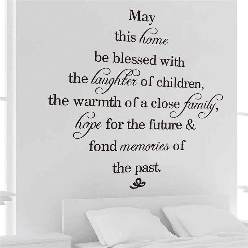 hope for the future fond memories of the past quotes wall stickers
