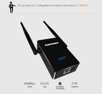 6PCS COMFAST Wireless Router Wifi Repeater 300mbps Wifi Router English Firmware Wireless N Wifi Repeater 2