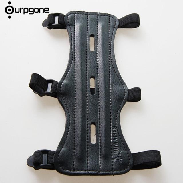 Ourpgone גבוהה באיכות ירי חץ וקשת חץ עור 3 רצועת ירי יעד חץ וקשת זרוע משמר הגנה בטוח רצועת Armband