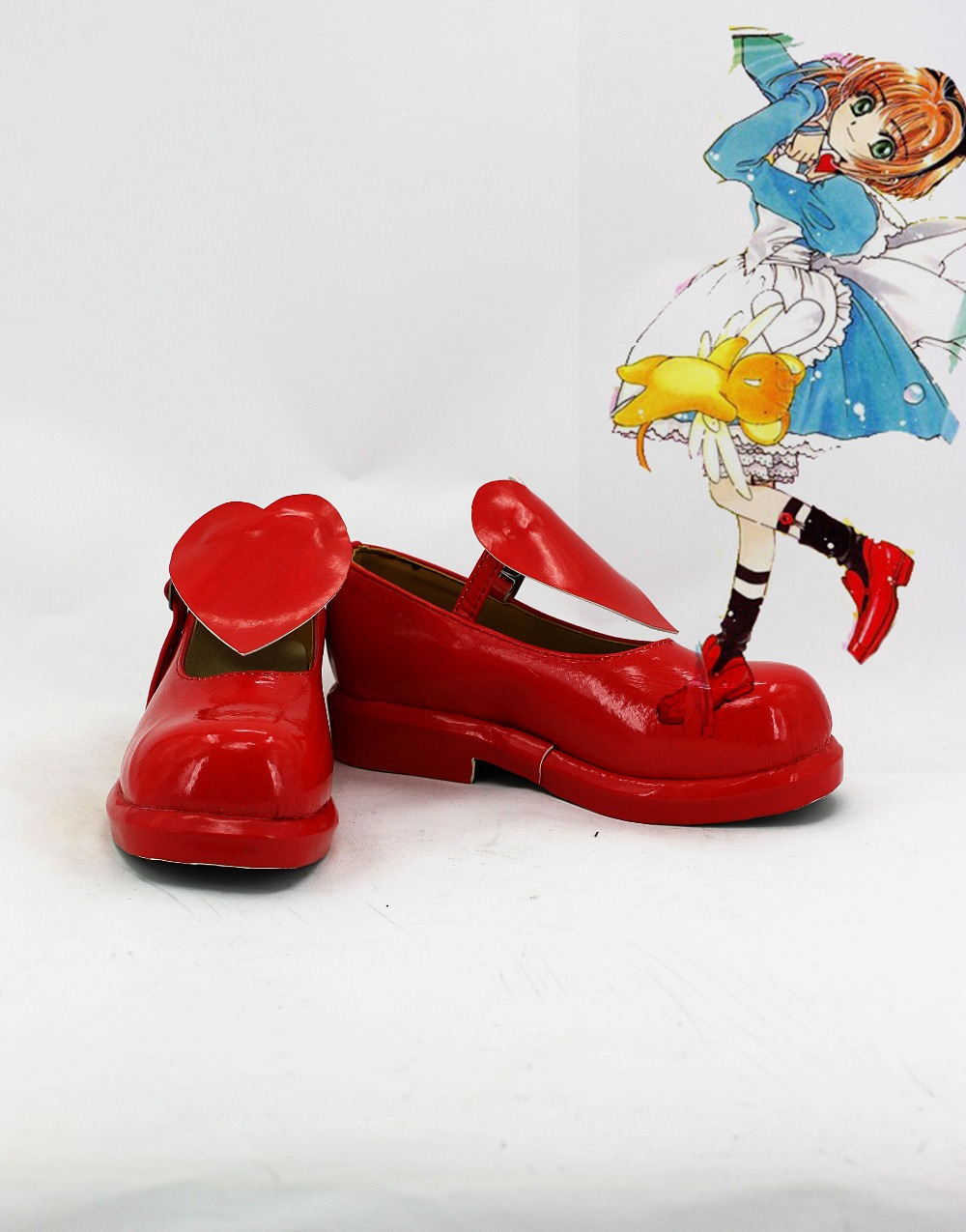 Cosplay Boots Japanese Anime Cardcaptor Sakura Cosplay Sakura Shoes Red Color For Adult