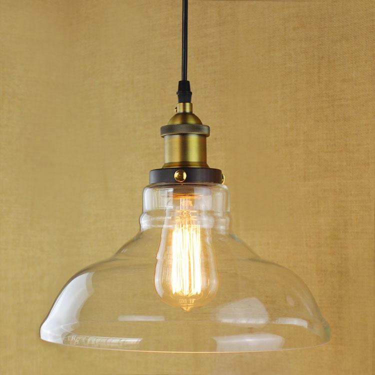 Vintage Glass Pendant light Modern Lamp for Bar Restaurant Bedrooms Dining room lighting iron pendant lamp modern vintage industrial bar restaurant bedrooms large shopping mall muuto e27 art dining room
