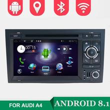 2 Din 7'' Android 8.0 Quad Core Radio Car DVD Player for Audi A4 B6 B7 S4 B7 B6 RS4 2002-2008 RS4 B7 SEAT Exeo 2008-2012 WIFI BT
