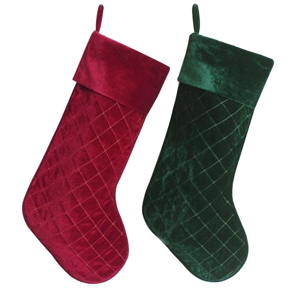 Popular Red Velvet Christmas Stockings-Buy Cheap Red Velvet ...