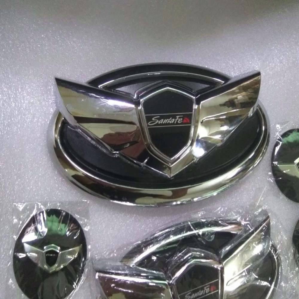 3D Front Grille Grill Badge Emblem Decals Hood Auto Car Logo Sticker Fits: Kia/Hyundai Sorento 2013 Santa Fe ix45 auto refitting hood front grille badge emblem car badge sticker for mitsubishi asx lancer outlander galant pajero ralliart etc