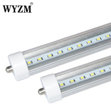 Fast Free Shipping To USA 10Pcs 8ft 40Watt F96 T12 LED Tube Light Cool White Transparent Cover 96W Fluorescent Bulb Replacement