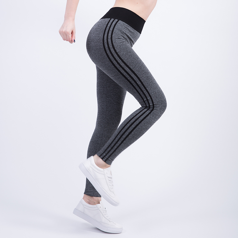 Tresdin New Women Sexy Cropped Leggings High Waist Elastic Wicking Force Exercise Female Elastic Stretchy Leggings Slim Trousers 4
