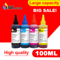 Dye Ink For EPSON Printers Premium 100ML 4 Color Ink BK C M Y for Epson T0731 T1281 T0921 92N T1811 T1711 T1631 T1621 printer