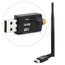 300Mbps USB Wireless Wifi Adapter Dongle LAN 802.11n/g/b Internet Network -ROF95 Drop Shipping
