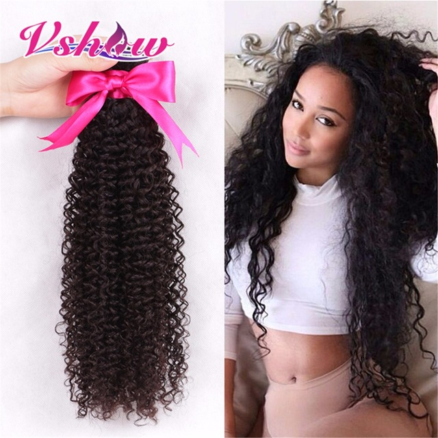 Brazilian Kinky Curly Virgin Hair V SHOW Hair Products 3PCS Brazilian Virgin Hair Deep Curly Brazilian Human Hair Weave Bundles