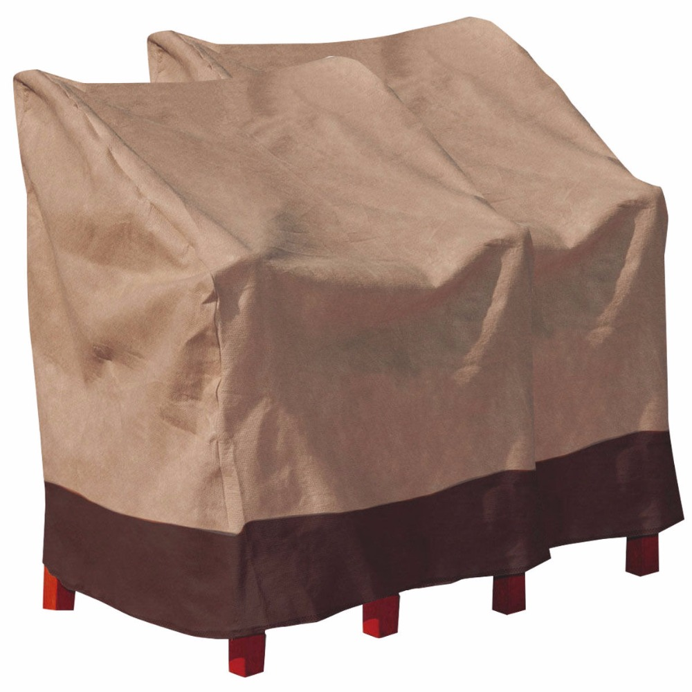2 PCS Waterproof High Back Chair Cover Outdoor Patio Garden Furniture Protection 2*HW517 ...