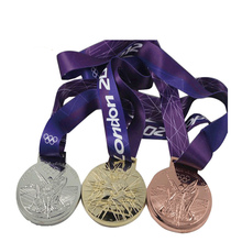 Manufacturer custom gold and silver medals cheap metal sports medal  k200205