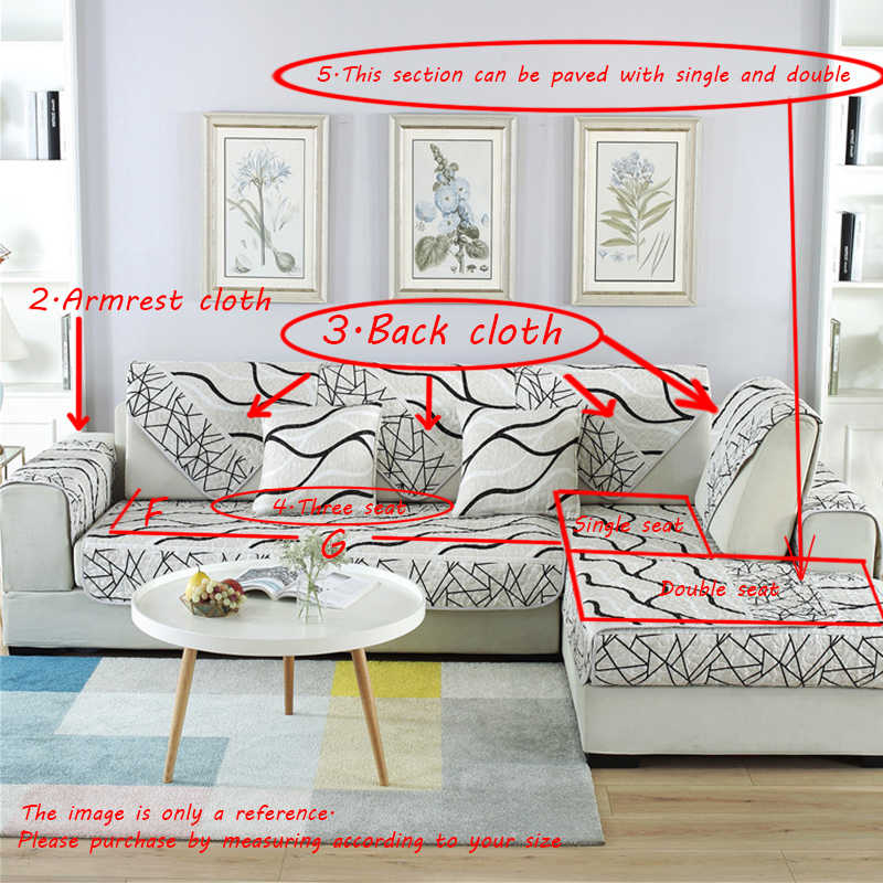 Откидной Чехол для дивана, роскошный евро из ткани жаккардового переплетения, геометрический, скандинавский, для гостиной, угловой, чехол для дивана, один двойной размер, чехол