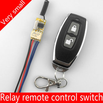 3,7 v-12 V Miniatur drahtlose fernbedienung schalter Relais stromleitung auf off umwandlung Ultra kleine steuermodul Button toggle
