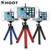 SCHIEßEN Mini Flexible Schwamm Octopus Stativ für iPhone Samsung Xiaomi Huawei Handy Smartphone Stativ für Gopro 7 6 5 kamera