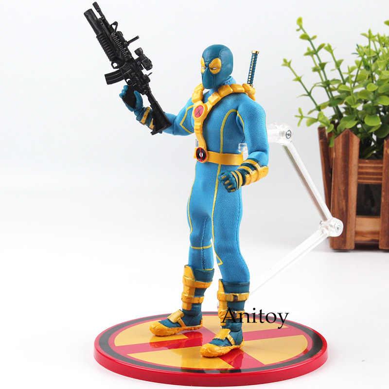 Deadpool X-MEN Azul: 12 Coletivo Ver. Deadpool Mezco 1:12 X-man Figura de Ação DO PVC Brinquedos Modelo Boneca Figurine Collectible