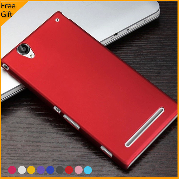 reputable site af742 4bc96 US $3.74 |Luxury Rubber Matte Hard Plastic Case Back Cover For Sony Xperia  T2 Ultra Dual D5322 XM50h D5303 Cell Phone Cases With Gift on ...