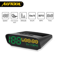 AUTOOL X100 GPS Speedometer Old Car Head UP Display Multifunction Digital Speed Altitude Meter Non OBD Automotive Electronic HUD