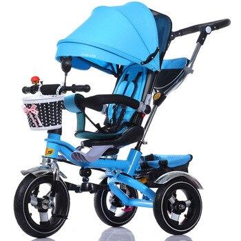 Poussette Pour Trois | 3 En 1 Pliable Enfants Tricycle Vélo Bébé Chariot Chariot Bébé Poussette Landau Poussette Trois Roues Pliant Bébé Buggies