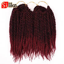 Silike 10 inch Kids Senegalese Twist Crochet Hair 24 Roots Micro Braids Hair Extensions Pure Color Synthetic Hair 1 pack