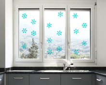 20 pieces snowflake Decals Merry Christmas Holiday Ornaments Decor Wall Sticker White Snowflake window Decoration M-206