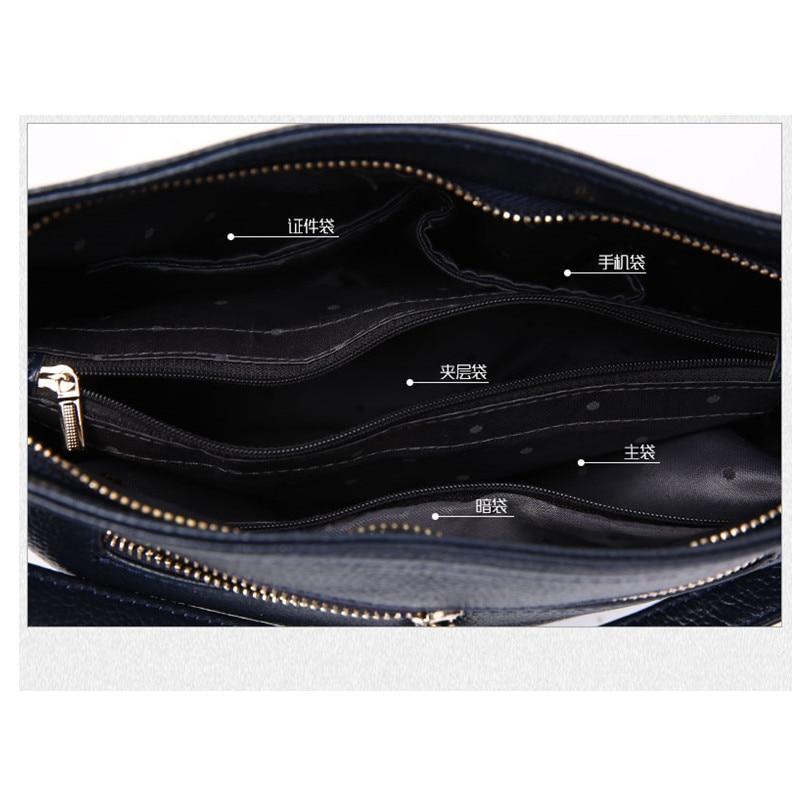 100% ehtne nahk Messenger kotid kuulus brändi naised õlakotid sidur - Käekotid - Foto 6