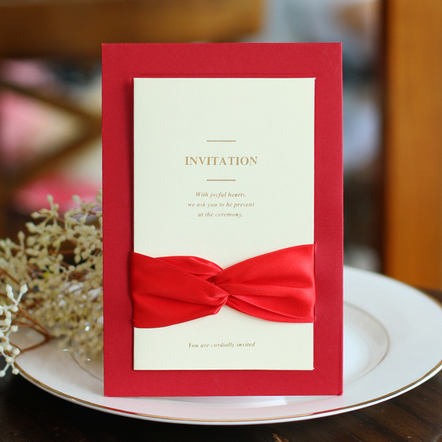 10pcs wedding creative invitations european marry golden words