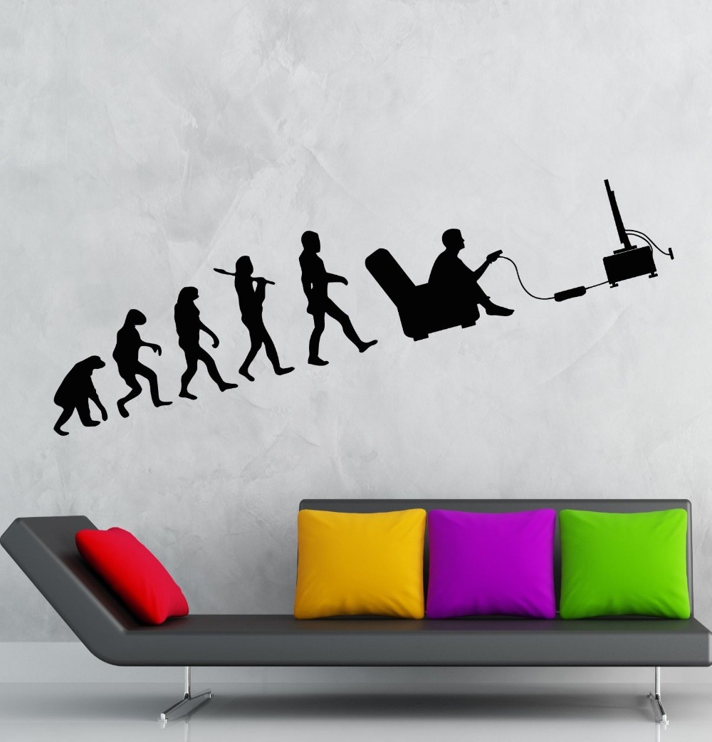 Aliexpress.com: Compre Computer Boys Vinyl Wall Decal Gamer Evolution Video  Game Kids Room Mural Art Wall Sticker Office Bedroom Home Decoration De ... Part 82