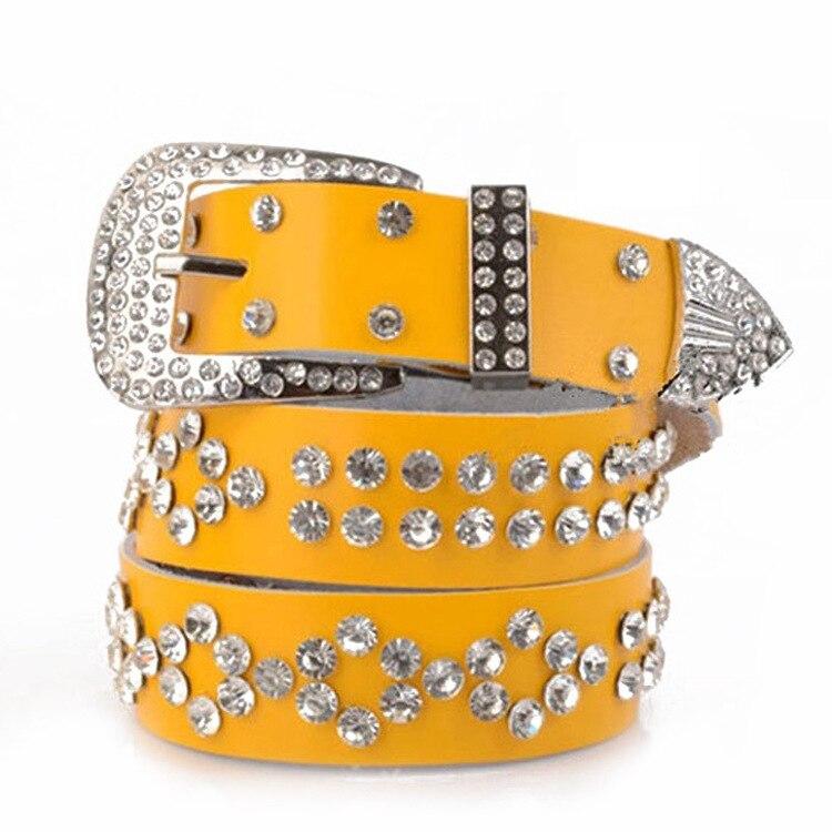 Ceintures de créateurs femmes de haute qualité femmes ceintures de luxe marque cinq couleurs de mode avec ceinture de diamant pour dames BT-029