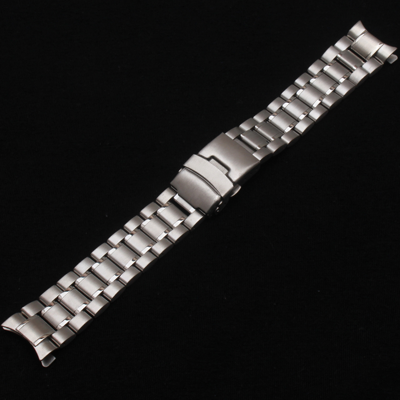 Neue Heiße Verkauf Mann Frau Silber Solide Edelstahl Metall Curved - Uhrenzubehör - Foto 3