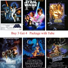 Star Wars Posters Clear Image White Coated Paper Prints Livingroom Bedroom Decoration