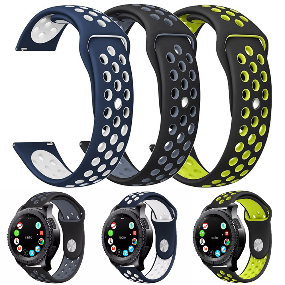 Sports silicone Strap Band for samsung galaxy gear S3 Frontier Replaceable Bracelet Strap for Samsung S3 Classic sports silicone strap band for samsung galaxy gear s3 frontier replaceable bracelet strap for samsung s3 classic