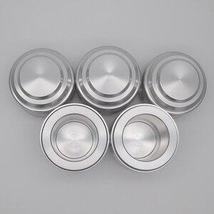 Image 4 - Poket slingshot powerful Aluminum Alloy hunting Bow  Tirachinas Estilingue Silver and gray cup Slingshot mini crossbow