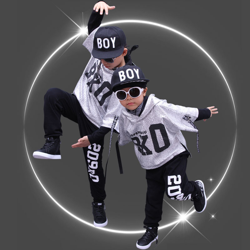 Fashion Children Hip Hop Outfit Spring Autumn Girls Street Dance Clothes Boys Girls Sport Suits Kids Dance Costumes 3 Piece Sets 4 pieces new fashion print cool boys girls clothing set cotton t shirt hip hop dance pants sport clothes suits kids outfits