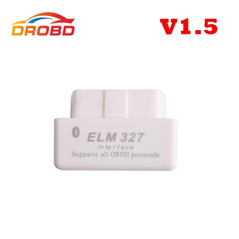 New Arrival Code reader Diagnostic Tool Super mini ELM327 Bluetooth OBD-II OBD Can 1.5 version Support All OBD-2 Protocol