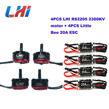 RC motors drone RS2205 2300KV CW/CCW Brushless Motor +RC plane 4 Pcs FPV Little Bee 20a Mini Esc 2-4s for Racing Quadcopter