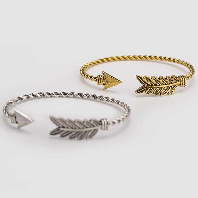 2018 nowy gorący czeski etniczne bransoletki uroczy mankietów bransoletki strzałka ramię mankiet bransoletka opaska indyjska biżuteria dla kobiet prezent dla mężczyzny