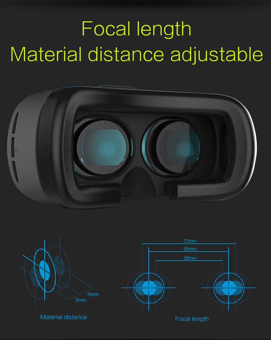 VR BOX 2.0 II Google 3D Glasses VR Glasses Virtual Reality Goggles Cardboard Headset Helmet For Mobile Phone iPhone 7 6 6s 5 9