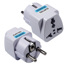 New Arrival 2019 Best Price Universal UK US AU to EU AC Power Socket Plug Travel Charger Adapter Converter AD-01 цена