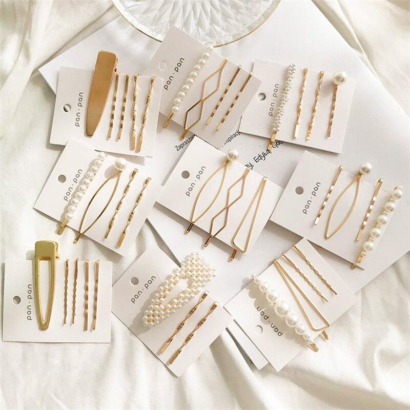IFMIA 3 шт./компл. металлическая заколка для волос с жемчугом заколка для волос аксессуары для головного убора инструменты для красоты новое по...
