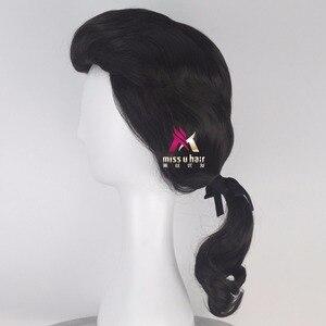 Image 3 - Biamoxer יופי והחיה נסיך גסטון פאה שחור קצר פאת קוספליי ליל כל הקדושים תפקיד לשחק שיער