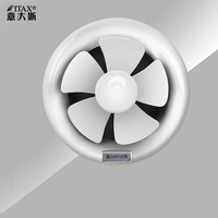 Round bath 8 inch kitchen lampblack glass wall pipe type ventilation fan bathroom exhaust  6  ITAS9918A Exhaust Fans    -