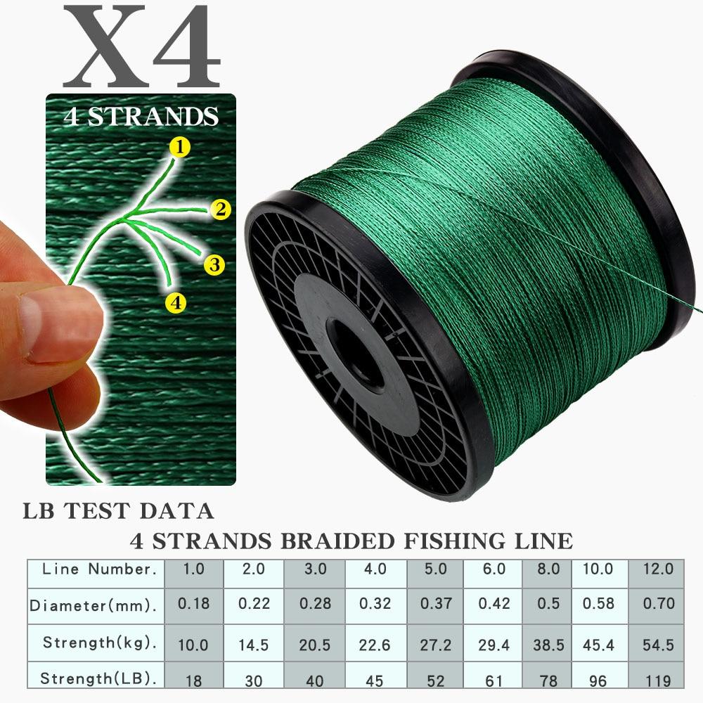 X4-DATE 500M PE Braided Line Fishing cord 8 60LB 0 拷贝