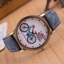Relogio Masculino 2017 Bicycle Pattern Sport Men Watches Casual Brand Leather women Watch Erkek saatler Quartz Wristwatches