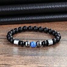 LIVVY – bracelet en perles naturelles 2018, bijoux corde serrée avec bracelet en Pierre pour hommes et femmes, ornements AS360